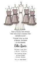 Grey Bridesmaids Dresses Invitations
