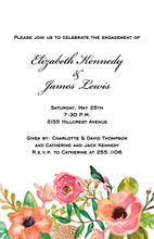 Floral Watercolor Scene Invitations