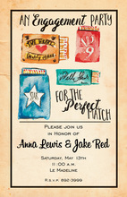 Perfect Match Engagement Party Invitations