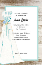 Blue Dress Watercolor Invitations