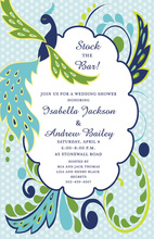 Fanciful Peacock Scalloped Invitations