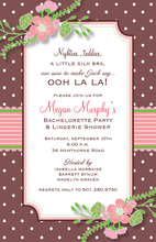 Notched Corder OohLaLa! Polka Dots Invitation