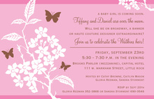 Butterflies and Babies Invitation