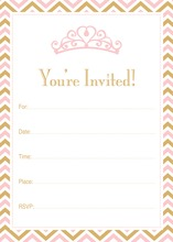 Pink Tiara Gold Chevron Border Fill-in