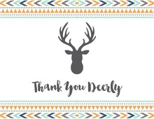 Tribal Bohemian Thank You Deerly Notes