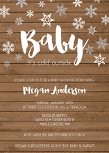 Baby It's Cold Wood Plank Invites