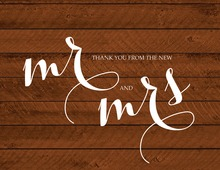 Wood Plank Bridal Thank You Cards