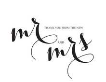 Bridal Script Thank You Cards