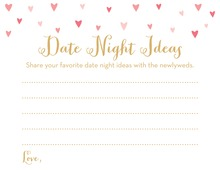 Pink Hearts Date Night Idea Cards