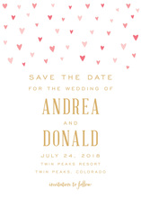 Pink Hearts Save The Date
