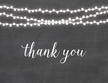 Bridal Chalkboard String Lights Thank You Cards