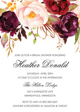 Dark Watercolor Roses Rehearsal Dinner Invitations