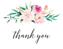 Watercolor Bouquet Thank You Cards