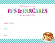 PJs Pancakes Fill in Invitations