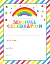Rainbow Stars Fill in Invitations