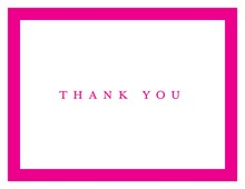 Simple Hot Pink Border Thank You Cards