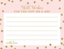 Pink Faux Gold Glitter Dots Well Wishes Cards