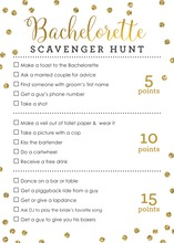Faux Gold Glitter Dots Scavenger Hunt