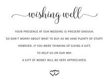 Black Script Wishing Well Cards