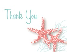 Coral Starfish Wedding Thank You Cards