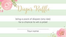 Mint Stripes Raffle Cards