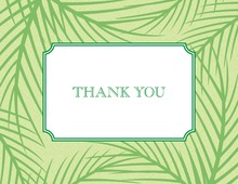 Serenety Palm Leaves Thank You Cards
