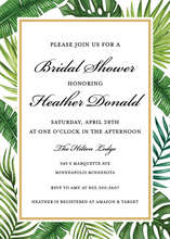 Watercolor Tropics Bridal Shower Invitations