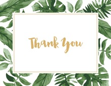 Watercolor Tropics Thank You Cards