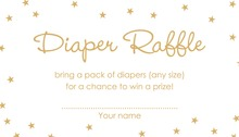 Gold Stars Raffle Cards