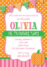 Little Pumpkin Polka Dots Invitations