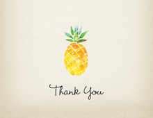 Watercolor Pineapple Thank You Note Card
