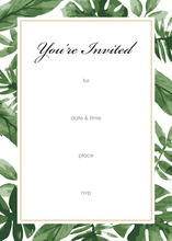 Watercolor Tropics Fill-in Invitations