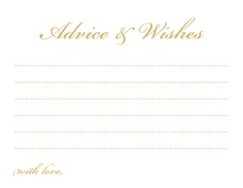 Gold Script Well Wish and Advice Cards