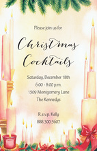 Decorated Christmas Candles Invitation