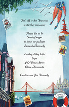 San Francisco Golden Gate Invitations