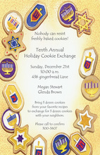 Hanukkah Cookies Coins Invitation