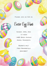 Egg Hunts Easter Chicks Invitation