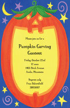 Pumpkin Jack-O'-Lantern Halloween Invitations