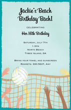 Smash Stretched Volleyball Net Invitations
