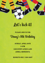 Kick It Invitation