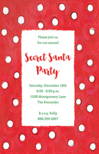 Let It Snow Red White Polka Dots Invitation