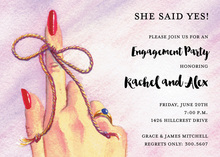 Knot Her Finger Save The Date Invitations