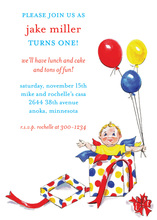 Pop-Up First Birthday Invitations