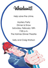 Detective Mystery Party Invitations