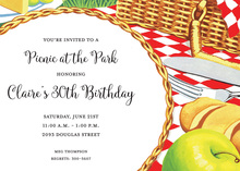Outdoor Tabletop Picnic Birthday Invitations