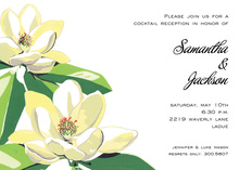 Blooming Magnolia Invitations