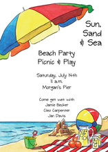 Classic Sandy Beach Invitations