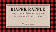 Little Pumpkin Diaper Raffle Cards