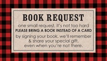 Lumberjack Red Plaid Border Bring A Book Card