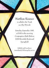 Judaic Window Invitation